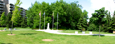 Veterans Park was inaugurated in 2007